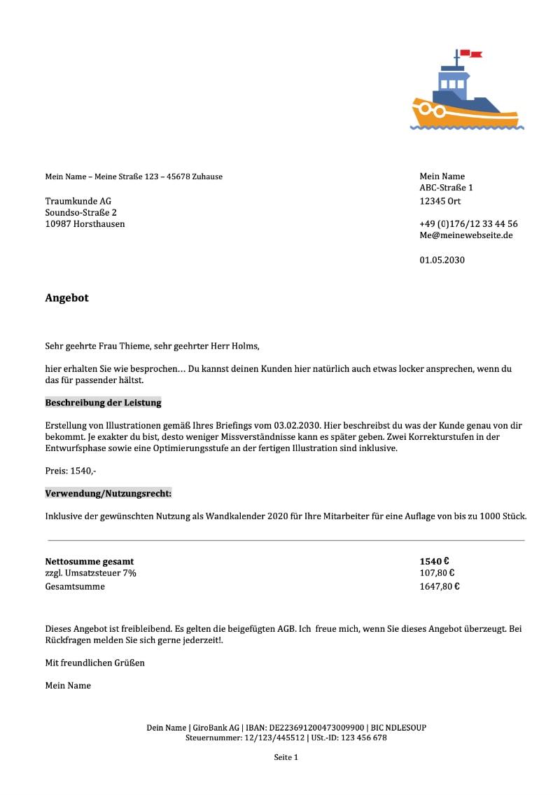 Auftragsbestatigung Muster Vorlage Kostenlos Weclapp Com